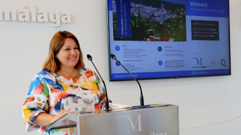 Natacha Rivas presentado concurso ideas contra despoblación