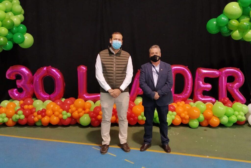 Manuel Lara, vicepresidente, y Juan Antonio Cívico, presidente ADR-Nororma jornadas 30 años LEADER